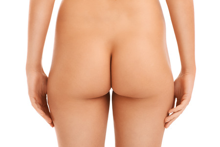 A picture of a female butt isolated over white background