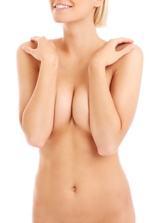 naked woman breasts: A midsection of a naked womans body
