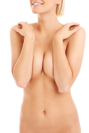 femme se deshabille: Une section m�diane du corps d'une femme nue