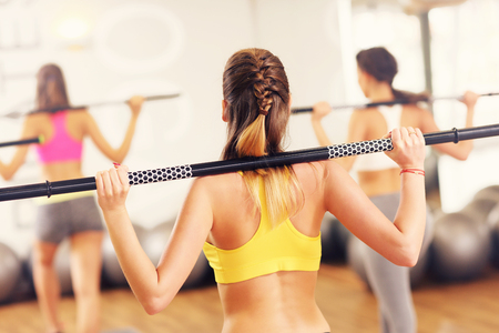 women working out: A picture of group women working out in gym
