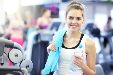 sports club: Picture of fit woman in sports club