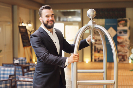 bellboy: Picture of bellboy in hotel