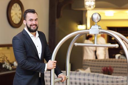 bellboy: Picture of bellboy in hotel