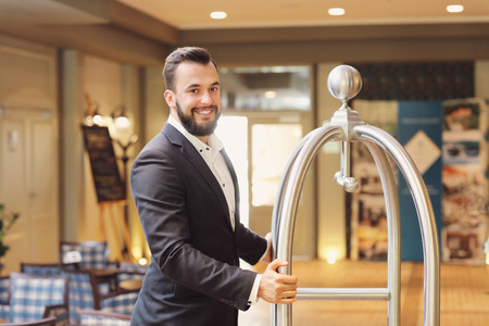 Picture of bellboy in hotel