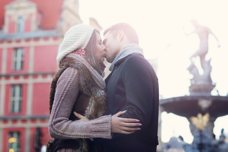neptun: Picture showing young couple kissing in Gdansk