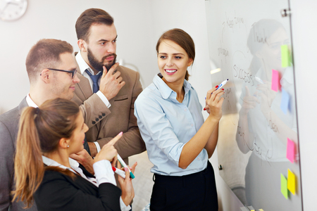 teamwork business: Picture showing business people working in team Stock Photo