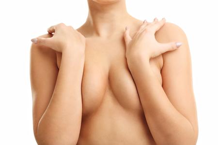 fille sexy nue: Sexy ajustement femme nue isolé sur blanc Banque d'images