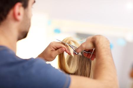 Adult woman at the hair salon