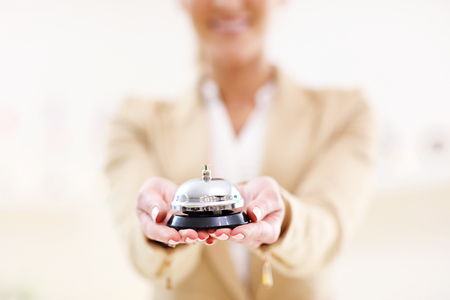Picture showing service bell in hotel
