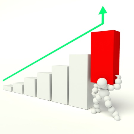 put forward: Business graph on a white background