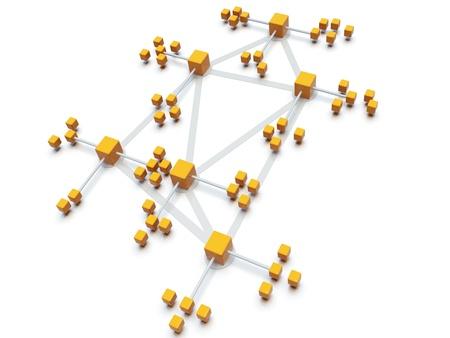 Busines networkconcept photo