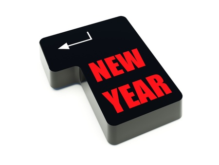 Computer keyboard with New Year key photo