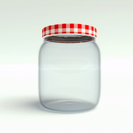 utilize: jar on a white background