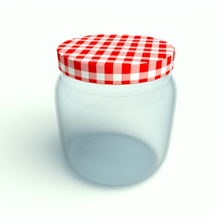 jar on a white background photo