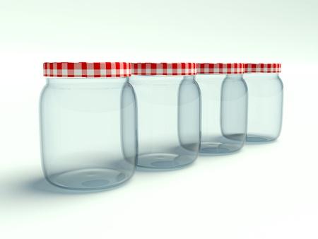 jar on a white background photo