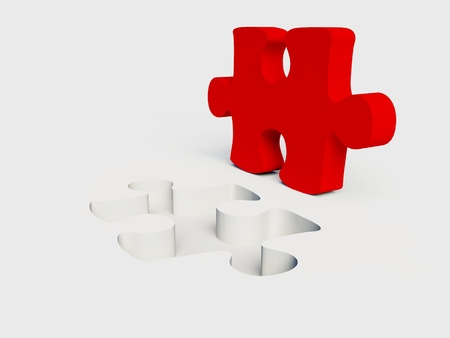 managed: Jigsaw puzzle on a white background