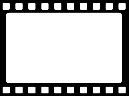 Blank film strip on a white background Stock Photo