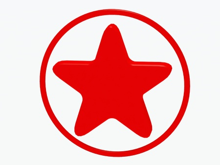 christmasy: Red star on a white background