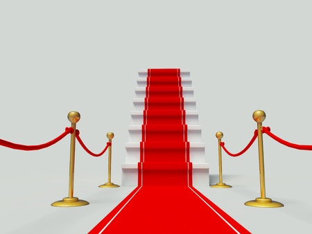 luxury entrance with red carpet