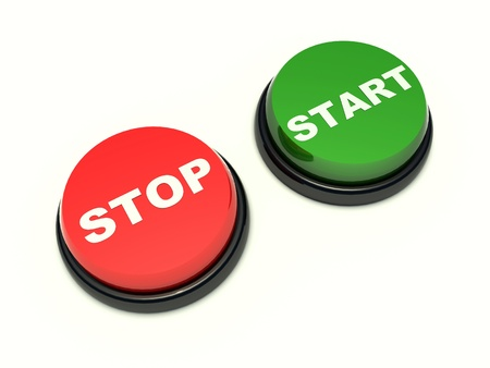 stop and start button on a white background