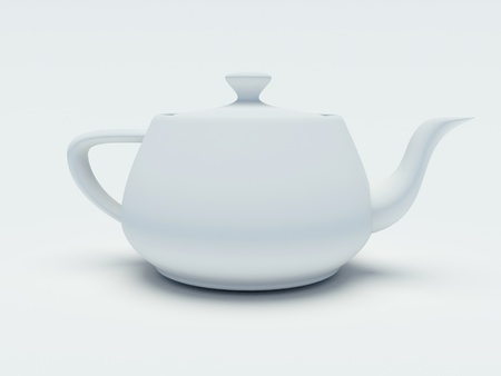 teapot on a white background photo