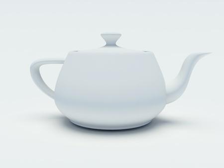 teapot on a white background photo