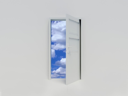 door way: Door to sky