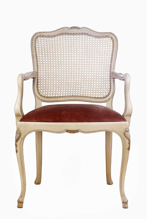 vintage chair: Wooden vintage chair isolated on white background