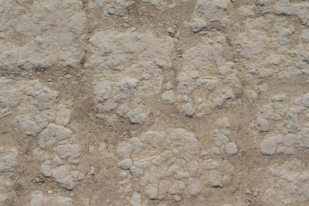 waterless: Top view of dry soil texture