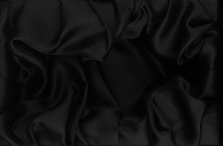 black silk fabric background Stock Photo