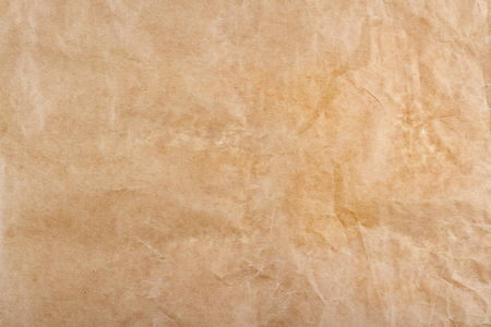 closeup of brown wrinkled packing paper background texture 写真素材