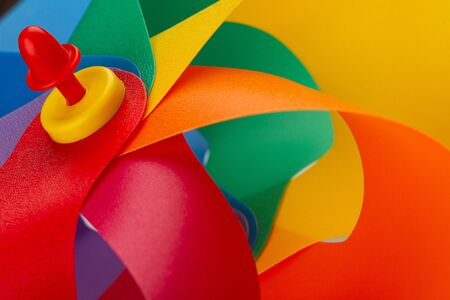 closeup texture of colorful windmill pinwheel