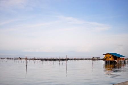 stilt house: Stilt house in waters,Thailand