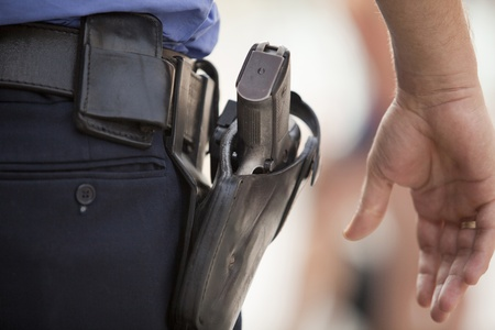 security laws: policeman Stock Photo