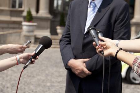 talker: interview Stock Photo