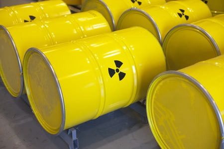 barrel bomb: radioactive waste