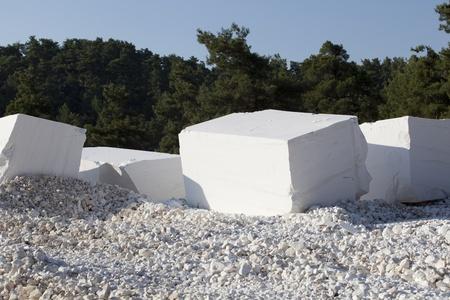 canicas: bloques de m�rmol