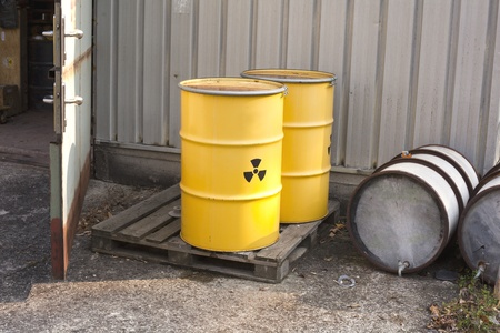 nuclear waste: nuclear waste Stock Photo