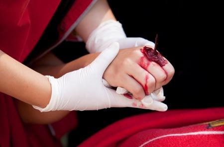 herida: capacitaci�n en primeros auxilios