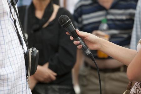 media interview Stock Photo - 17980458