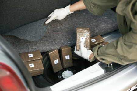 escena del crimen: contrabando de drogas