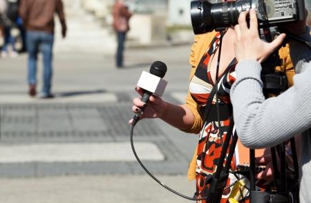 TV reporter interview Stock Photo - 18053783