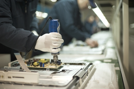 electronics industry: production line