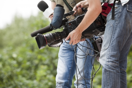 newscast: covering an event with a video camera