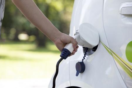 electric automobile: electric car Stock Photo