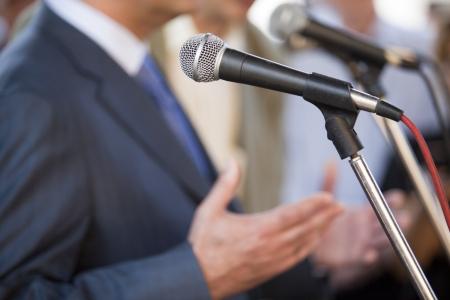 discourse: speech Stock Photo