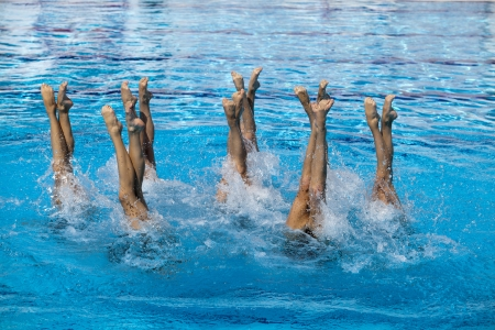 swimming competition: synchronized swimming