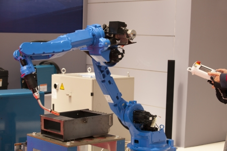 automated: industrial robot arm