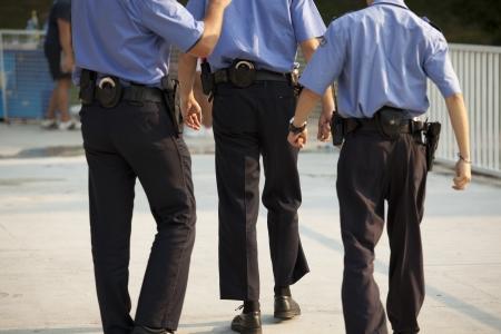 patrol officer: funny police patrol Stock Photo