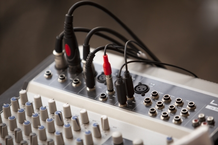 master volume: sound mixer Stock Photo